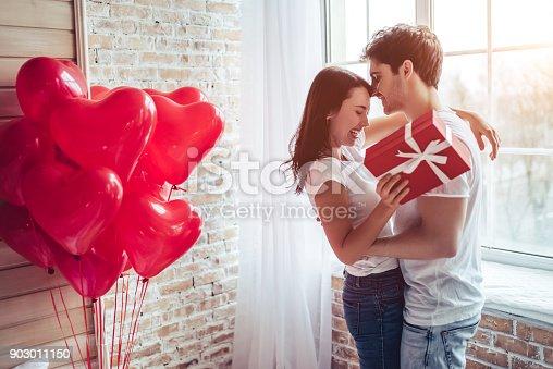 istock Couple in bedroom. 903011150