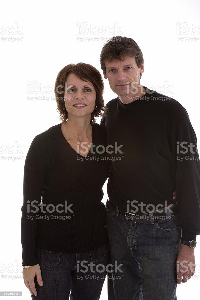 Para w czarny zbiór zdjęć royalty-free