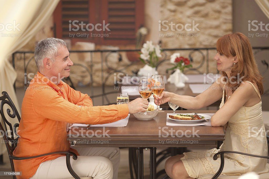 Couple in cafe. royalty-free stock photo