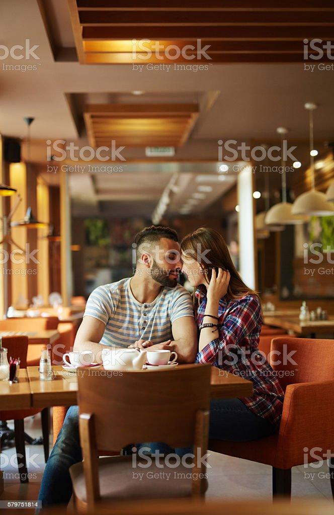 Paar im Café  Lizenzfreies stock-foto
