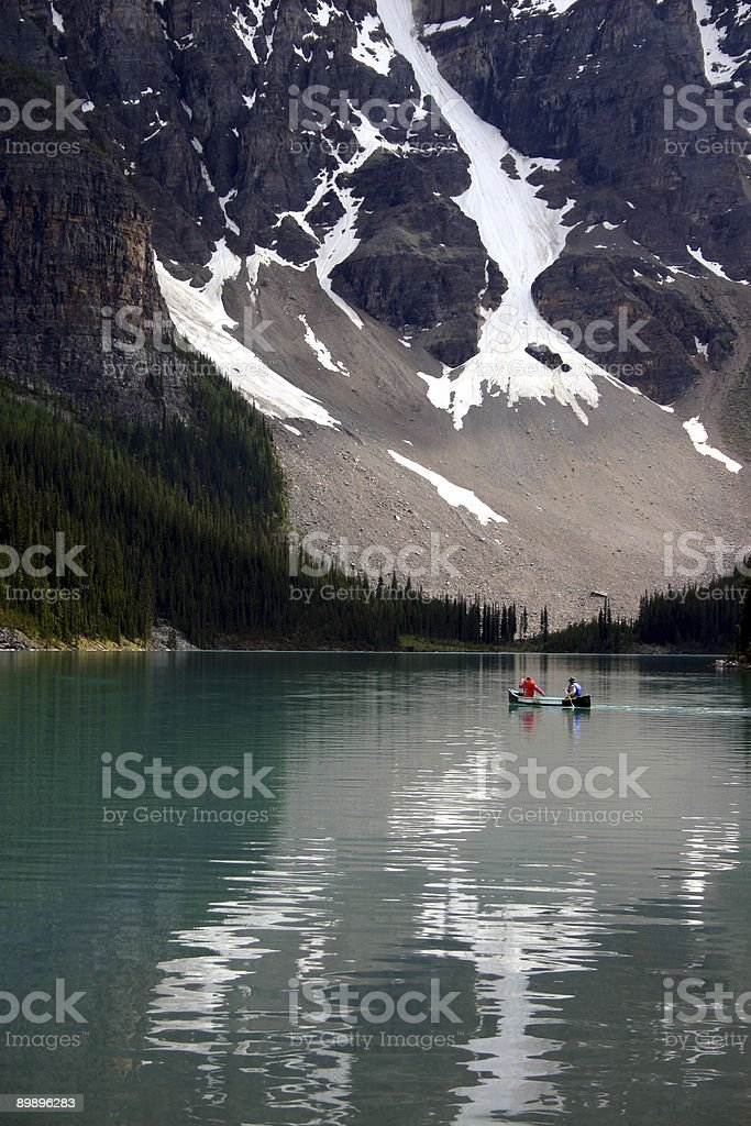 Couple in Canoe royalty-free stock photo