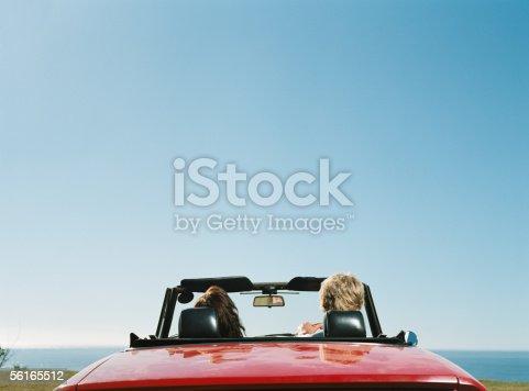 istock Couple in convertible 56165512