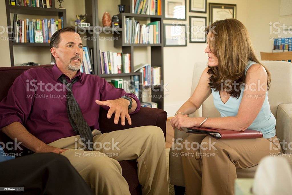 Couple in Counseling Session stock photo