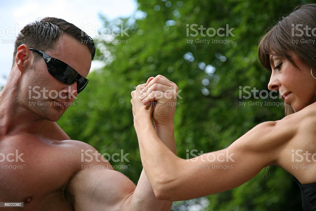 Couple in fight royalty-free stock photo