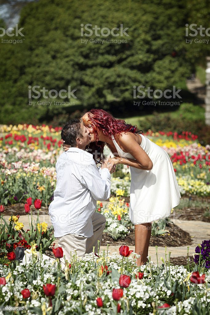 Couple in Garden royalty-free stock photo