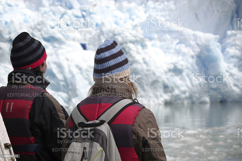 Couple in Glacier royalty-free stock photo