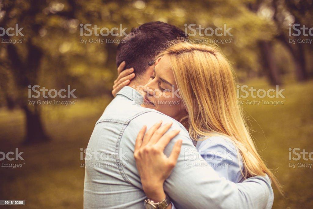 Couple in hug. royalty-free stock photo