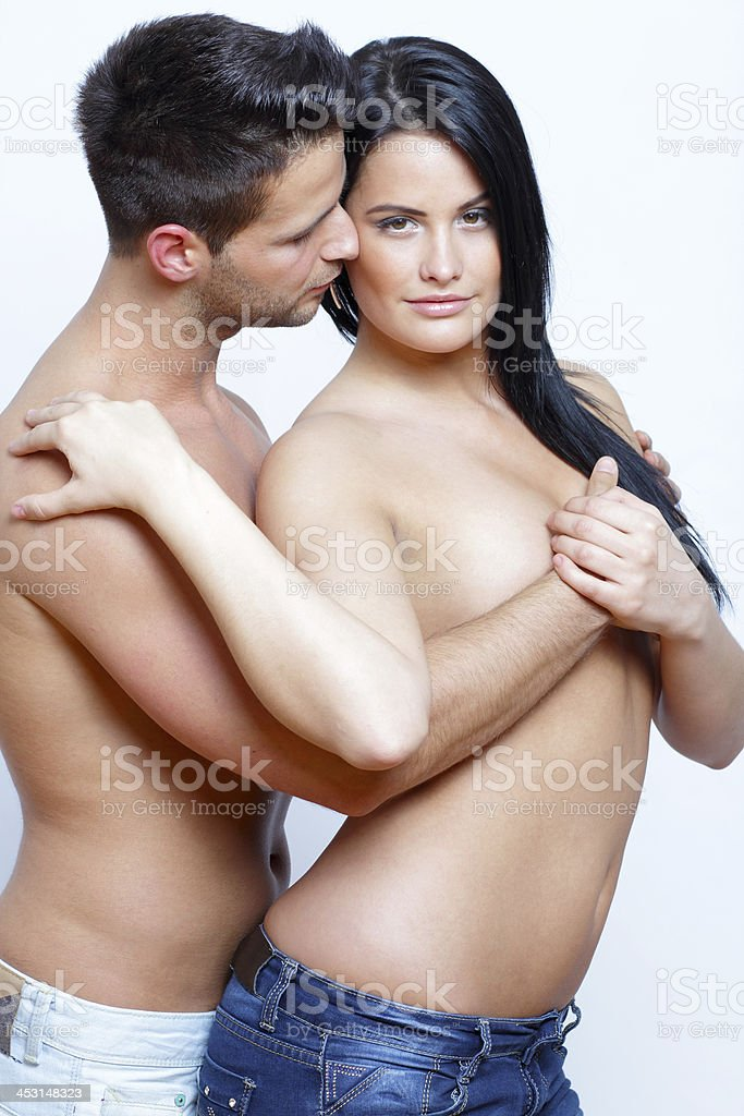 Couple in intimate position royalty-free stock photo