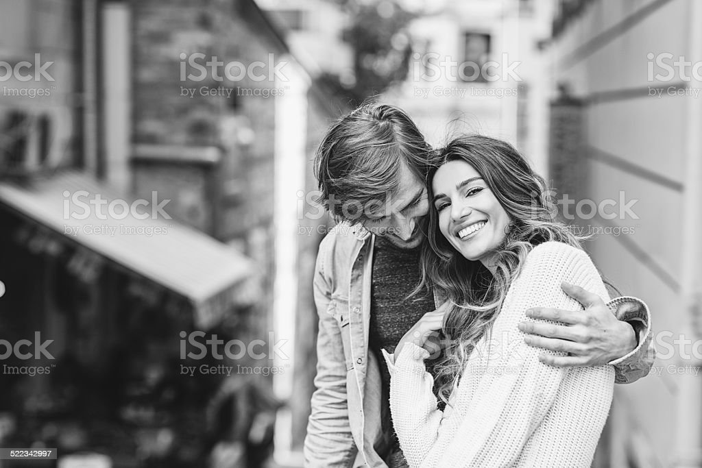 Couple in Istanbul stock photo