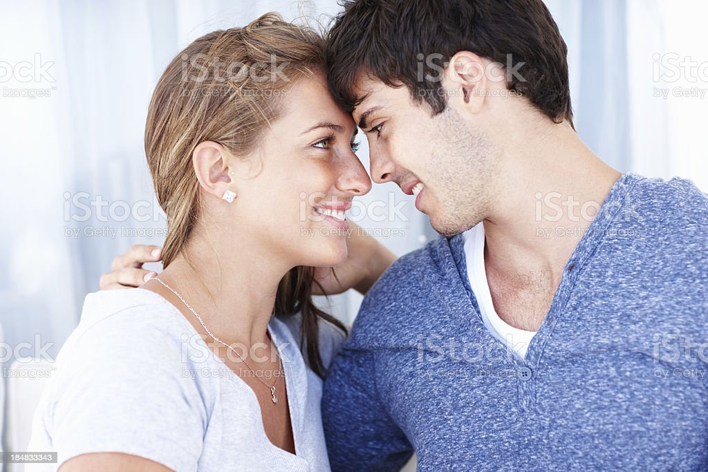 Couple in love looking at each other royalty-free stock photo