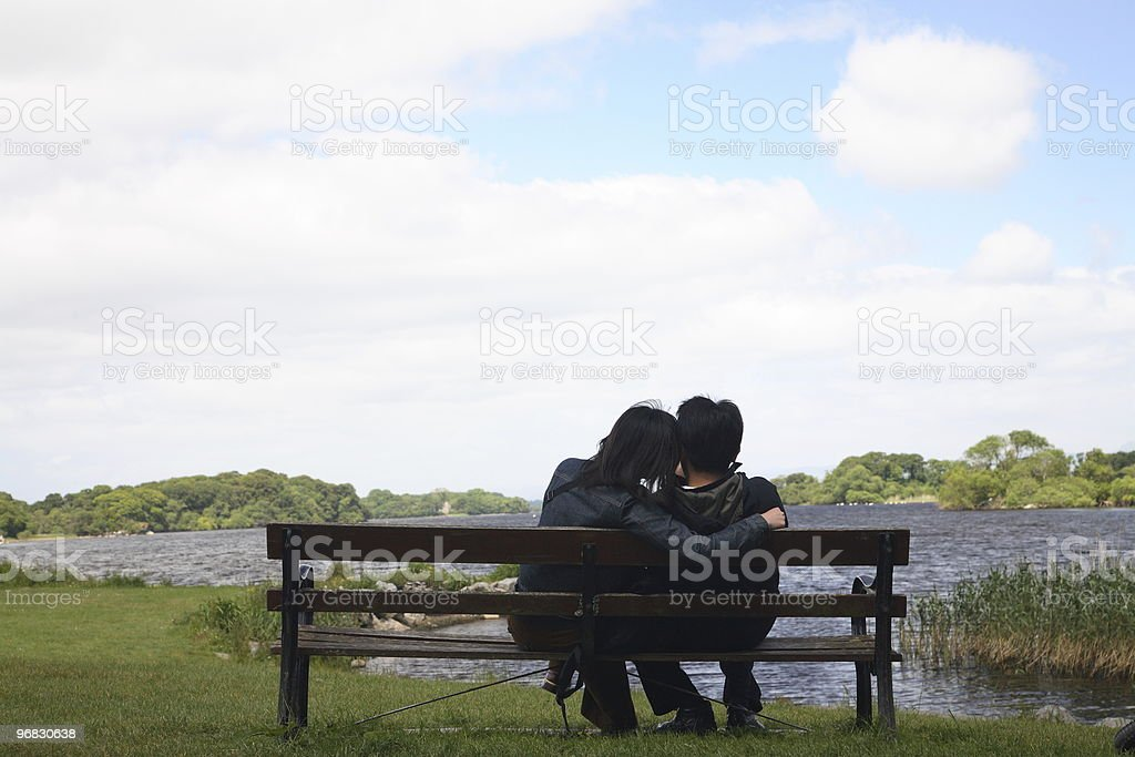 Couple in Love on Irish Bank royalty-free stock photo