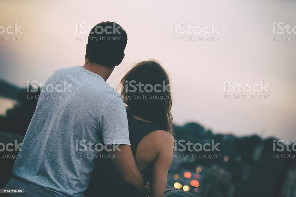 Couple in love. stock photo