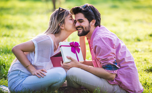 Couple In Love Romantic Couple Enjoying In Moments Of Happiness In The City  Park Love And Tenderness Dating Romance Lifestyle Concept Stock Photo -  Download Image Now - iStock