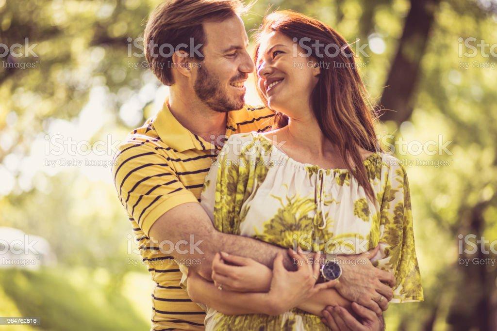 Couple in love Spring season. royalty-free stock photo