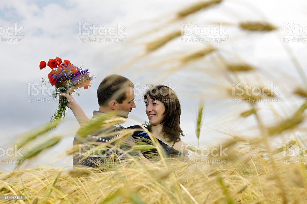 couple in nature royalty-free stock photo