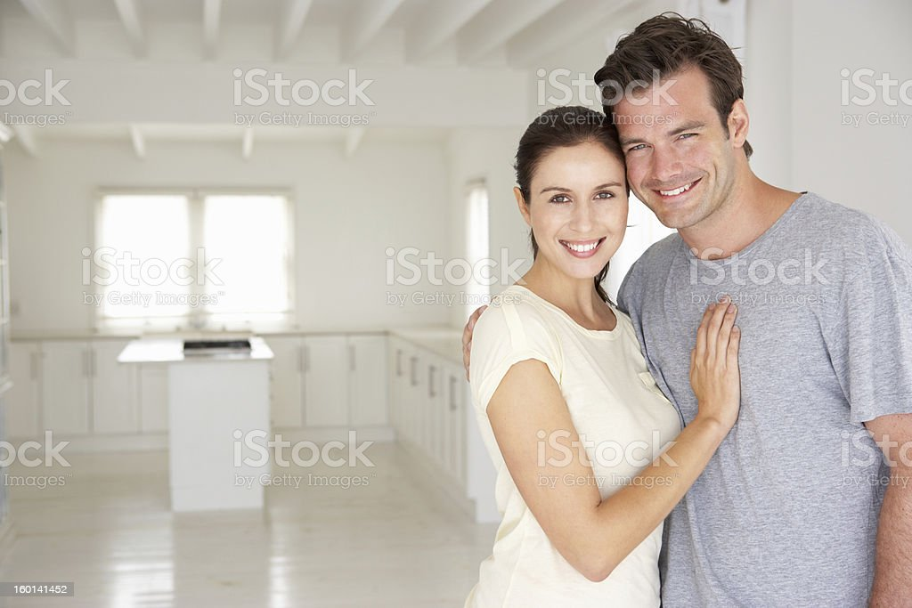 Couple in new home royalty-free stock photo