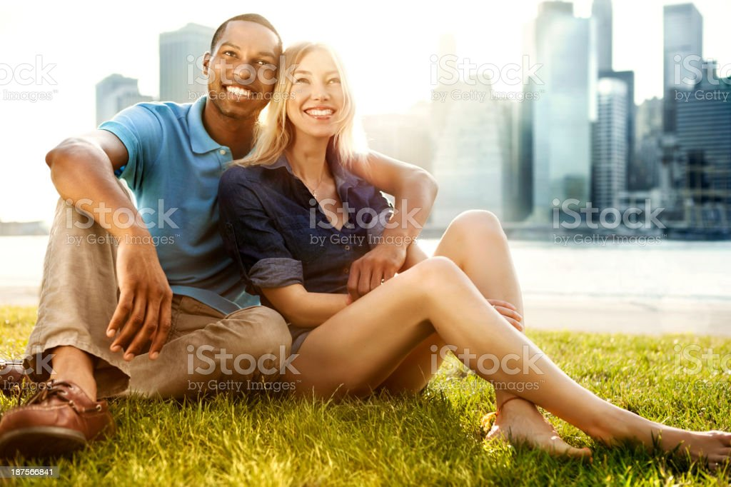 Couple in New York royalty-free stock photo