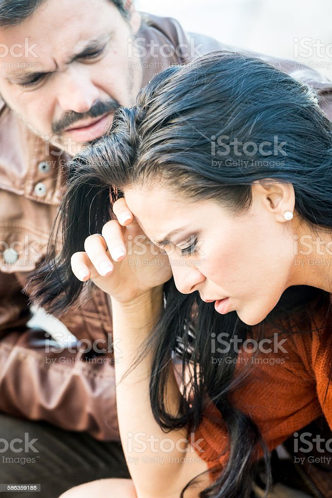 Couple in pain stock photo