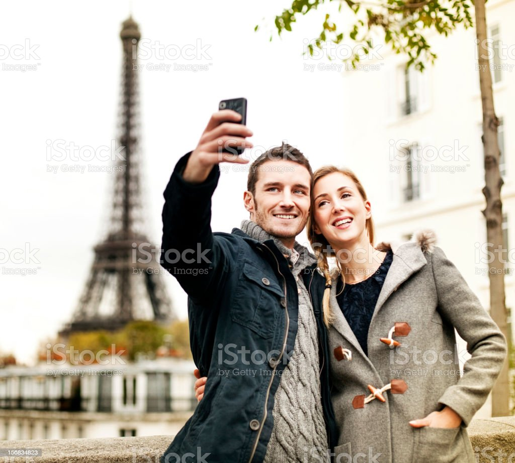 Couple in Paris royalty-free stock photo