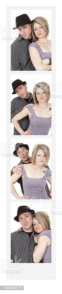 Couple in Photo Booth stock photo