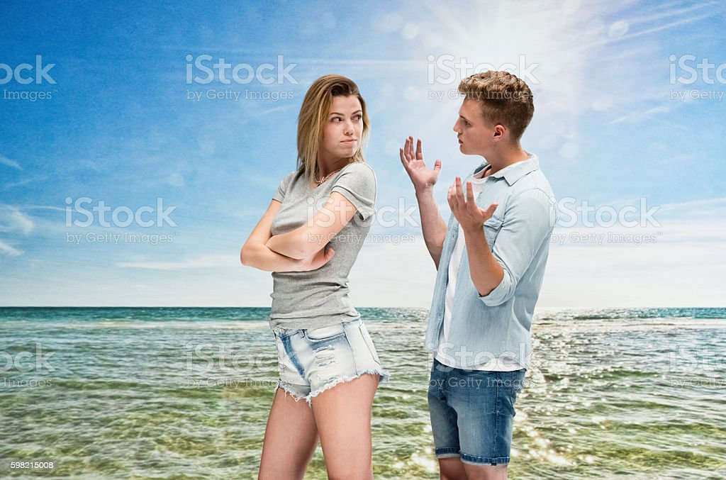 Couple in relationship difficulties outdoors foto royalty-free