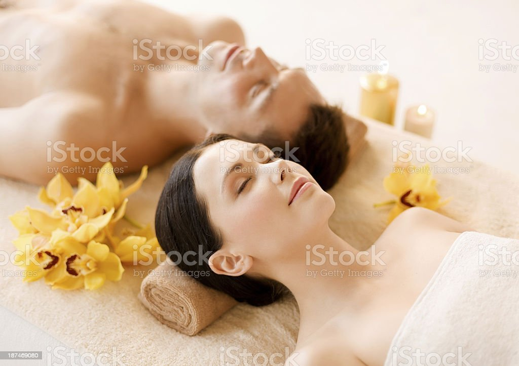 couple in spa royalty-free stock photo