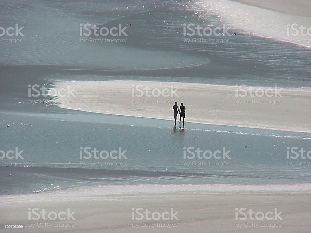 couple in the desert beach royalty-free stock photo