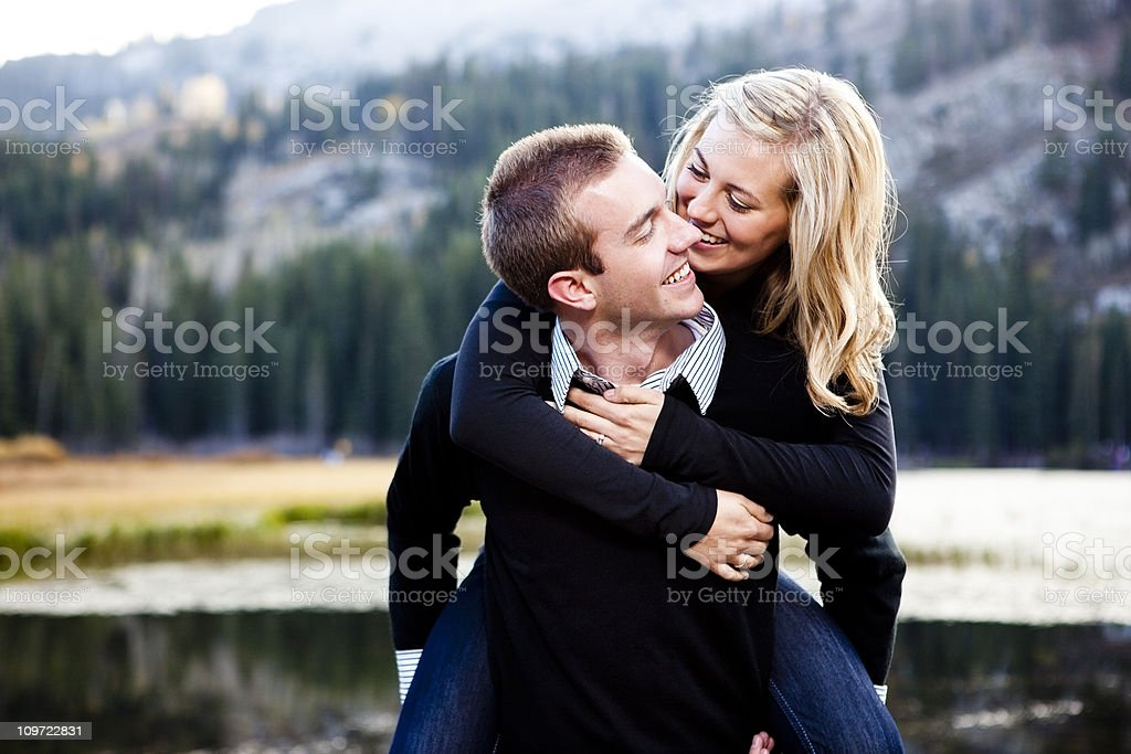 Couple in the Mountains royalty-free stock photo