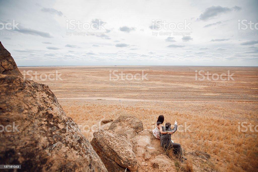 Paar in die Berge – Foto
