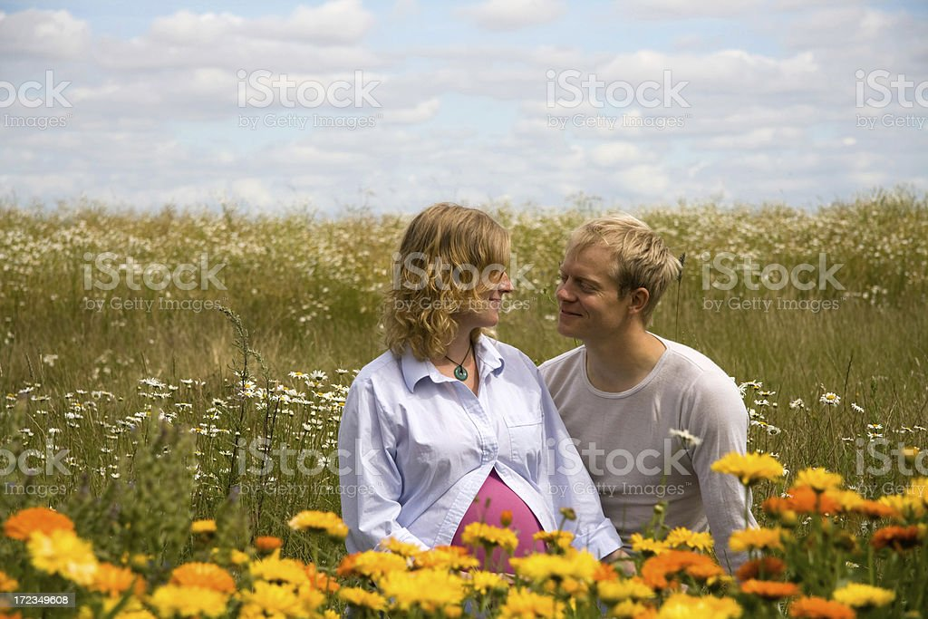 Couple in the nature royalty-free stock photo
