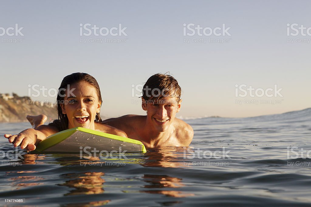 Couple in the ocean royalty-free stock photo