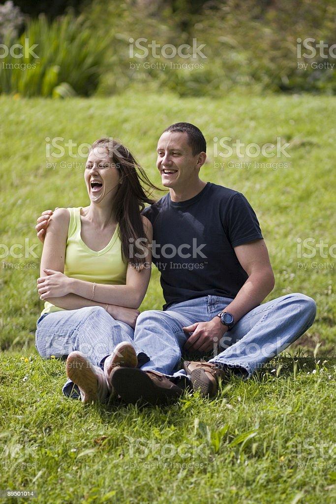 Para w parku 3 zbiór zdjęć royalty-free