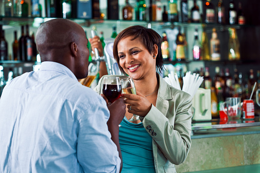 Couple In The Pub Stock Photo - Download Image Now