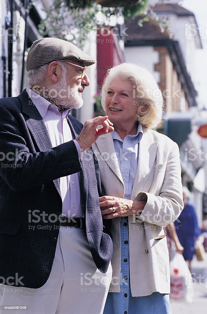 Couple in town royalty free stockfoto
