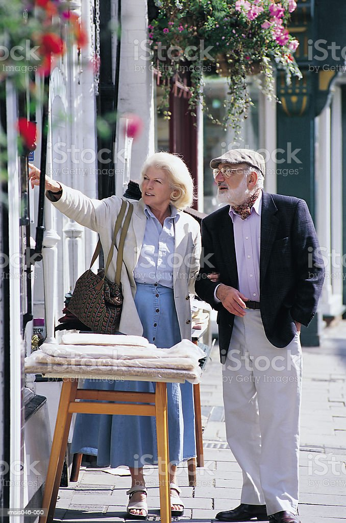 Couple in town royalty-free stock photo