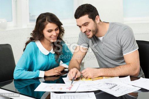 178160166 istock photo couple is considering future apartment design 178144466
