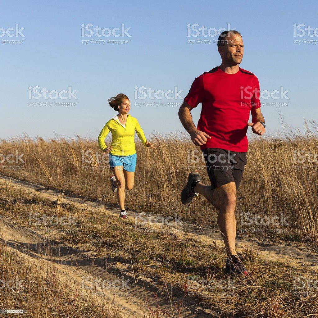 Couple Jogging royalty-free stock photo