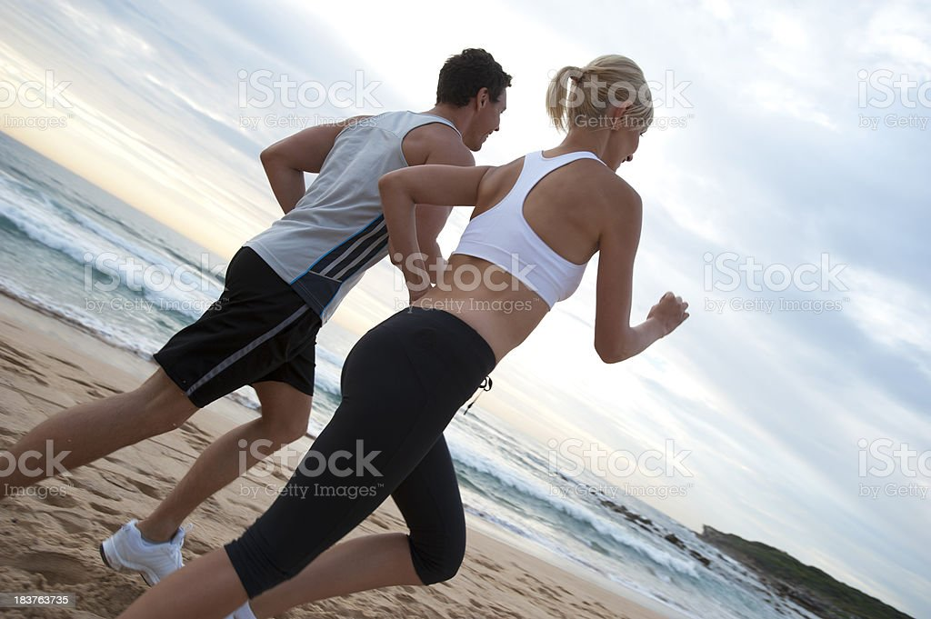 Couple jogging royalty-free stock photo
