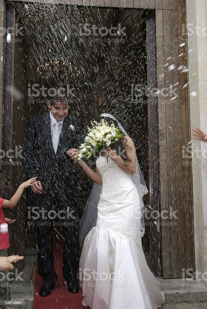 couple just married stock photo