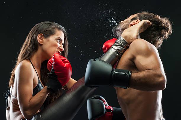 Pareja de kickboxing - foto de stock