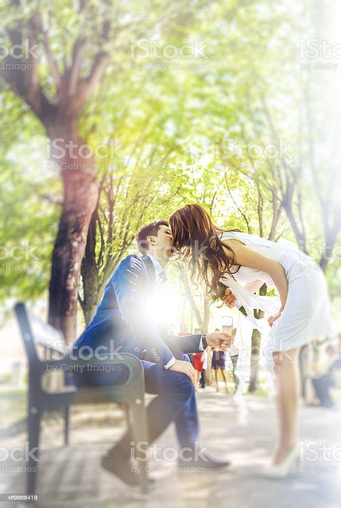 couple kissing royalty-free stock photo