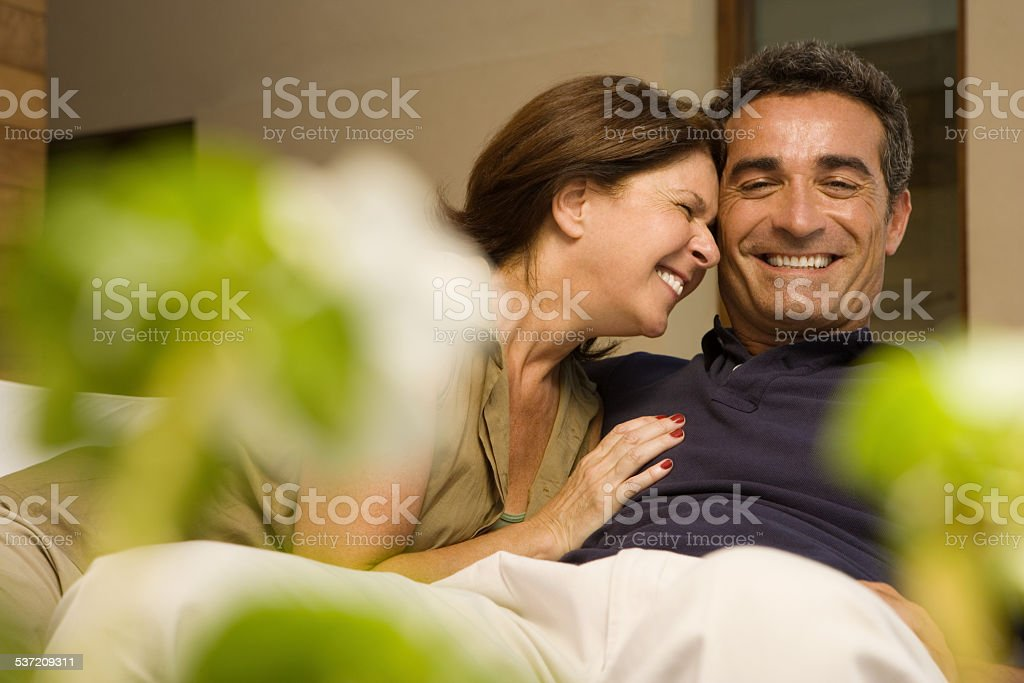 Couple laughing stock photo