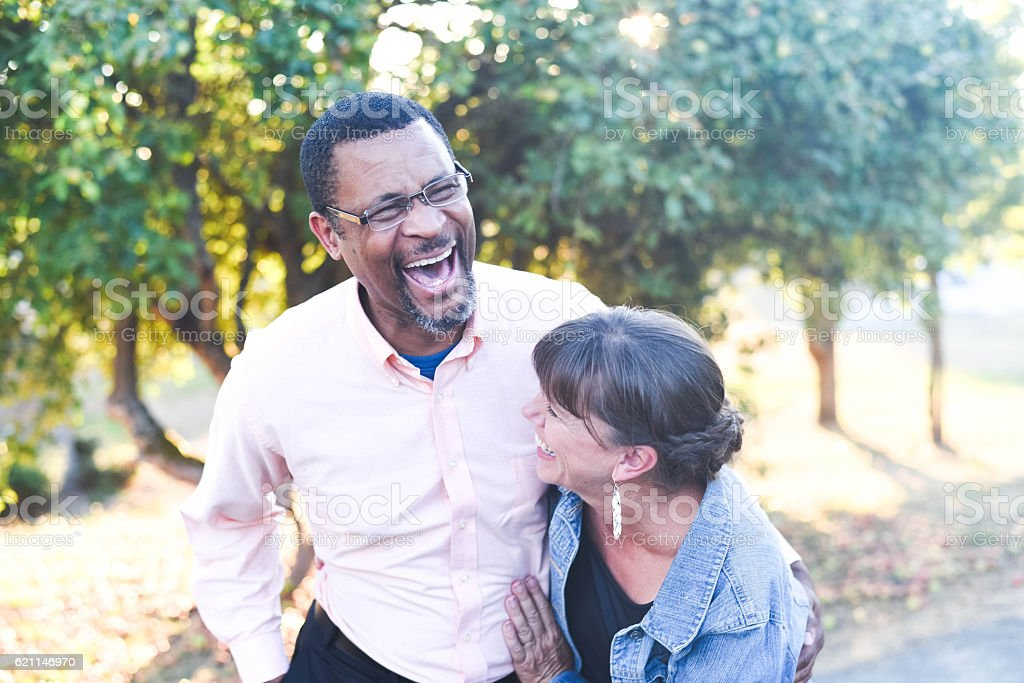 Couple Laughter stock photo