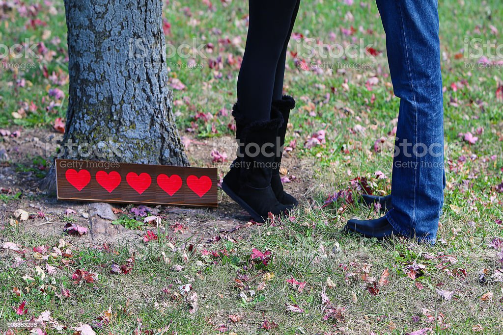 Couple Legs in Love stock photo