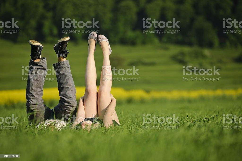 couple legs royalty-free stock photo