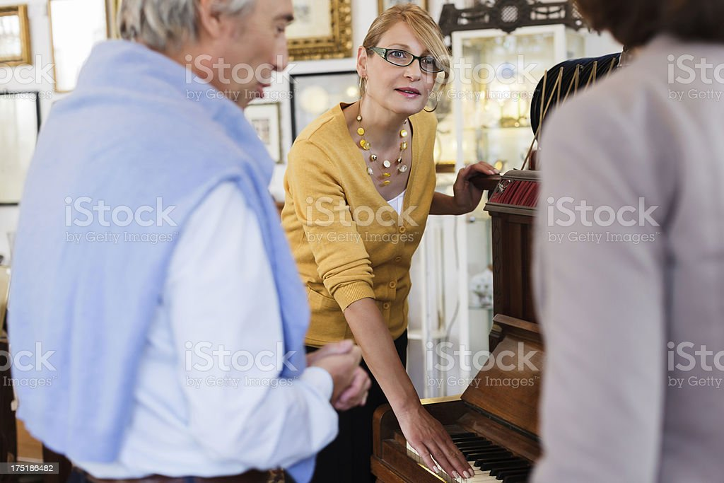 Couple looking at antique Items royalty-free stock photo