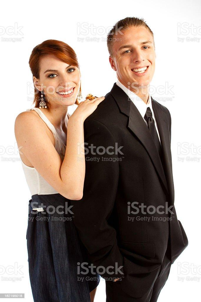Couple Looking at Camera royalty-free stock photo