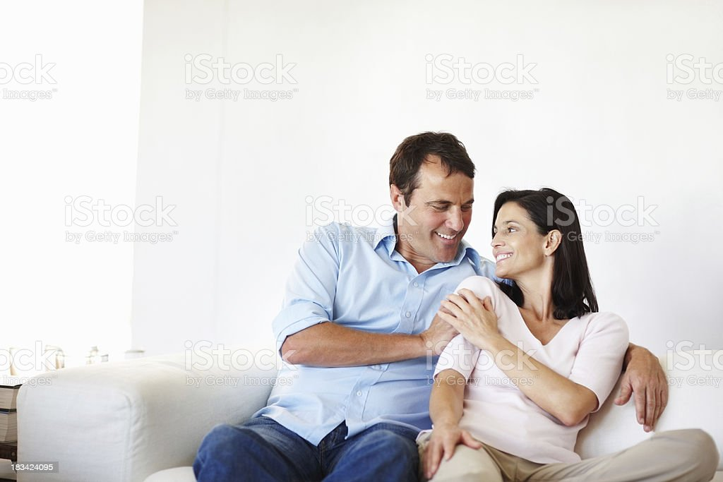 Couple looking at each other royalty-free stock photo