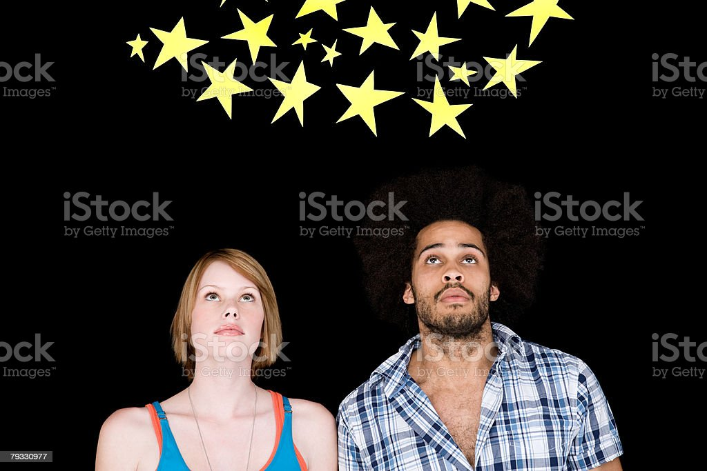 A couple looking at stars 免版稅 stock photo
