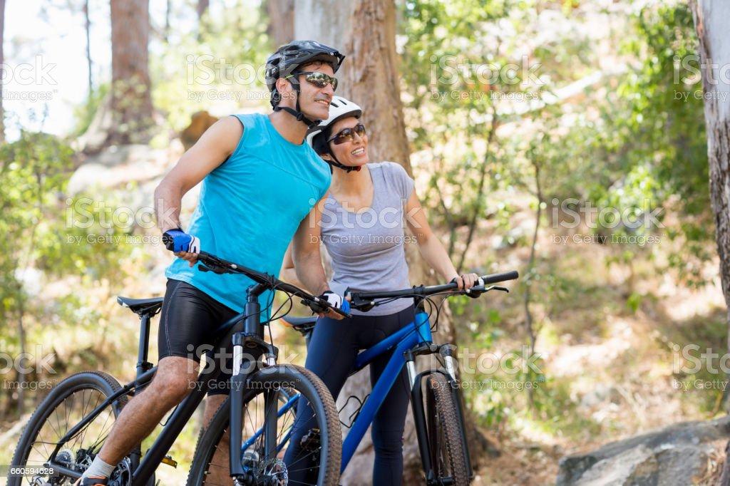 Couple looking something royalty-free stock photo